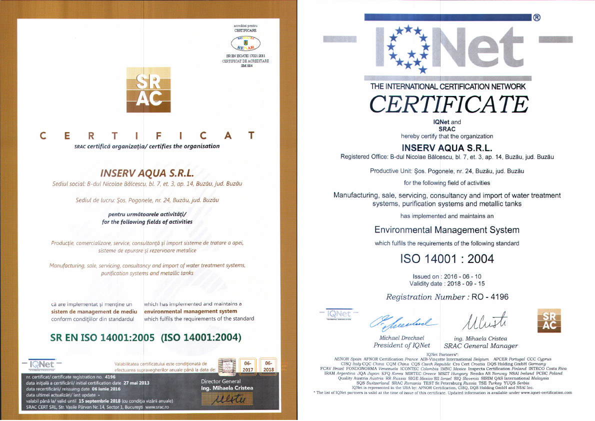 certificat 14001-2005