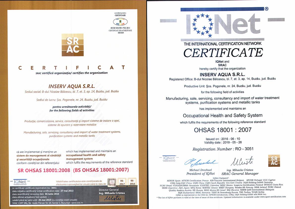 certificat 18001-2008