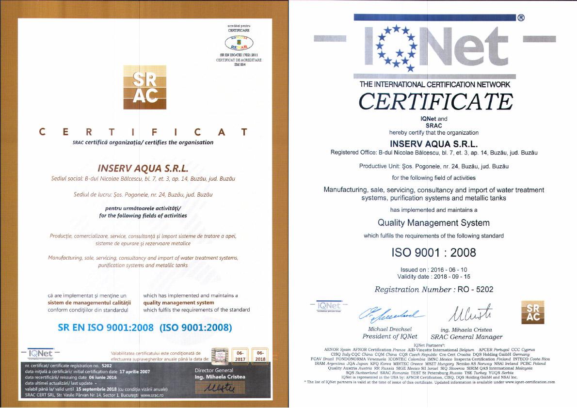 certificat 9001-2008